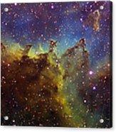 Part Of The Ic1805 Heart Nebula Acrylic Print by Filipe Alves