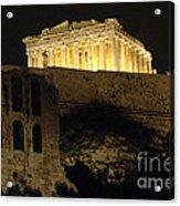 Parthenon Athens Acrylic Print by Bob Christopher