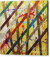 Party - Stripes 2 Acrylic Print by Mordecai Colodner