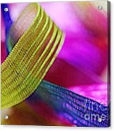 Party Ribbons Acrylic Print by Judi Bagwell