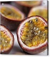 Passion Fruit Halves Acrylic Print by Veronique Leplat