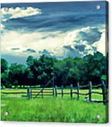 Pastoral Greenery Acrylic Print by Lourry Legarde