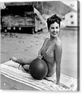 Paulette Goddard, 1943 Acrylic Print by Everett
