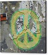 Peace No Trespassing Acrylic Print by Todd Sherlock