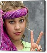 Peace Sign Acrylic Print by Trudy Wilkerson