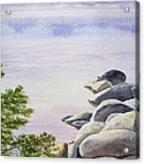 Peaceful Place Morning At The Lake Acrylic Print by Irina Sztukowski