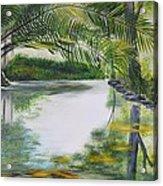 Peaceful Pond Acrylic Print by Tessa Dutoit