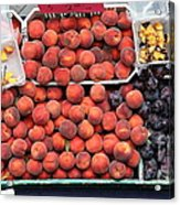 Peaches And Plums - 5d17913 Acrylic Print by Wingsdomain Art and Photography