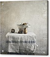 Pears Under Grunge Acrylic Print by Paul Grand