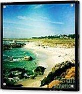 Pebble Beach Acrylic Print by Nina Prommer