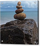Pebble Sculpture Acrylic Print by Richard Thomas