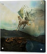 Pegasus Flying Horse Acrylic Print by Patricia Ridlon