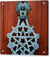 Pentagram Knocker Acrylic Print by Fabrizio Troiani