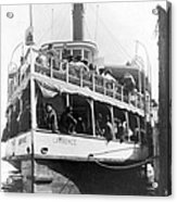 People Fleeing Galveston After Flood - September 1900 Acrylic Print by International  Images