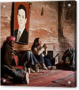 People Hide In A Cave Acrylic Print by Taylor S. Kennedy