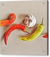 Pepper Dance Acrylic Print by Elena Kolotusha