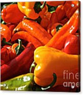 Pepper Palooza Acrylic Print by Susan Herber