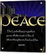 Perfect Peace Acrylic Print by Greg Long