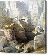 Petra March 10th 1839 Acrylic Print by Munir Alawi