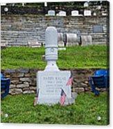 Phillies Harry Kalas' Grave Acrylic Print by Bill Cannon