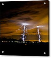 Phx Night Lightning #1 Acrylic Print by Kenny Jalet