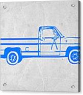Pick Up Truck Acrylic Print by Naxart Studio