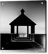 Pier Panoramic Acrylic Print by Pixel Perfect by Michael Moore