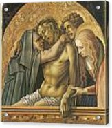 Pieta Acrylic Print by Carlo Crivelli