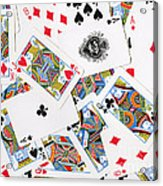 Pile Of Playing Cards Acrylic Print by Wingsdomain Art and Photography