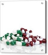 Pills Acrylic Print by Maria Toutoudaki