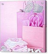 Pink Baby Shower Presents Acrylic Print by Elena Elisseeva