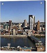 Pittsburgh Panoramic Acrylic Print by Teresa Mucha