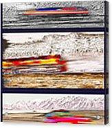 Planes Trains Automobiles Triptych Acrylic Print by Steve Ohlsen