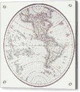 Planispheric Map Of The Western Hemisphere Acrylic Print by Fototeca Storica Nazionale