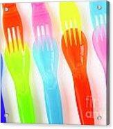 Plastic Cutlery Acrylic Print by Carlos Caetano