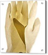 Plastic Gloves Acrylic Print by Bernard Jaubert