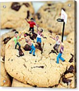 Playing Basketball On Cookies II Acrylic Print by Paul Ge
