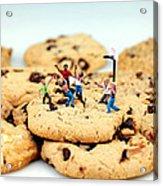 Playing Basketball On Cookies Acrylic Print by Paul Ge