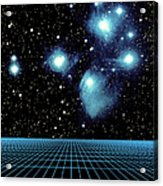 Pleiades In Taurus Acrylic Print by Science Source