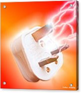 Plug With Electric Current Acrylic Print by Victor Habbick Visions