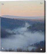 Pocono Mist Acrylic Print by Bill Cannon