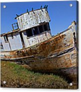 Point Reyes Beached Boat Acrylic Print by Garry Gay
