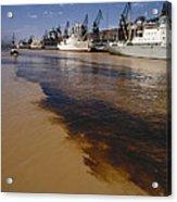 Polluted Water, Rio De La Plata Acrylic Print by Bernard Wolff