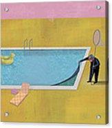 Pool Animal 01 Acrylic Print by Dennis Wunsch
