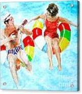 Pool Acrylic Print by Beth Saffer