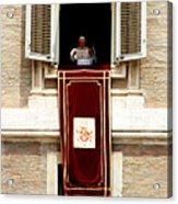 Pope Benedict Xvi B Acrylic Print by Andrew Fare