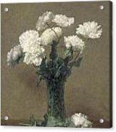 Poppies Acrylic Print by Ignace Henri Jean Fantin-Latour