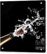 Popping Champagne Cork Acrylic Print by Gualtiero Boffi