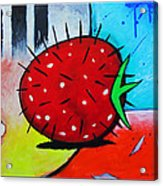 Porcupine Strawberry Acrylic Print by Snake Jagger