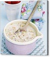 Porridge In A Pan Acrylic Print by Veronique Leplat